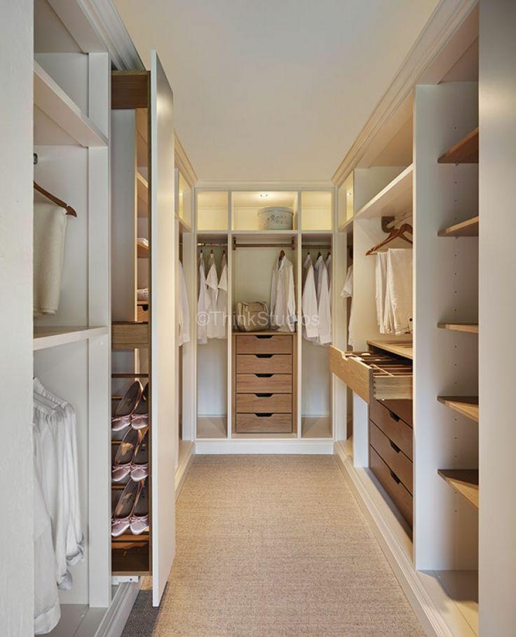 neutral colour walk in closet