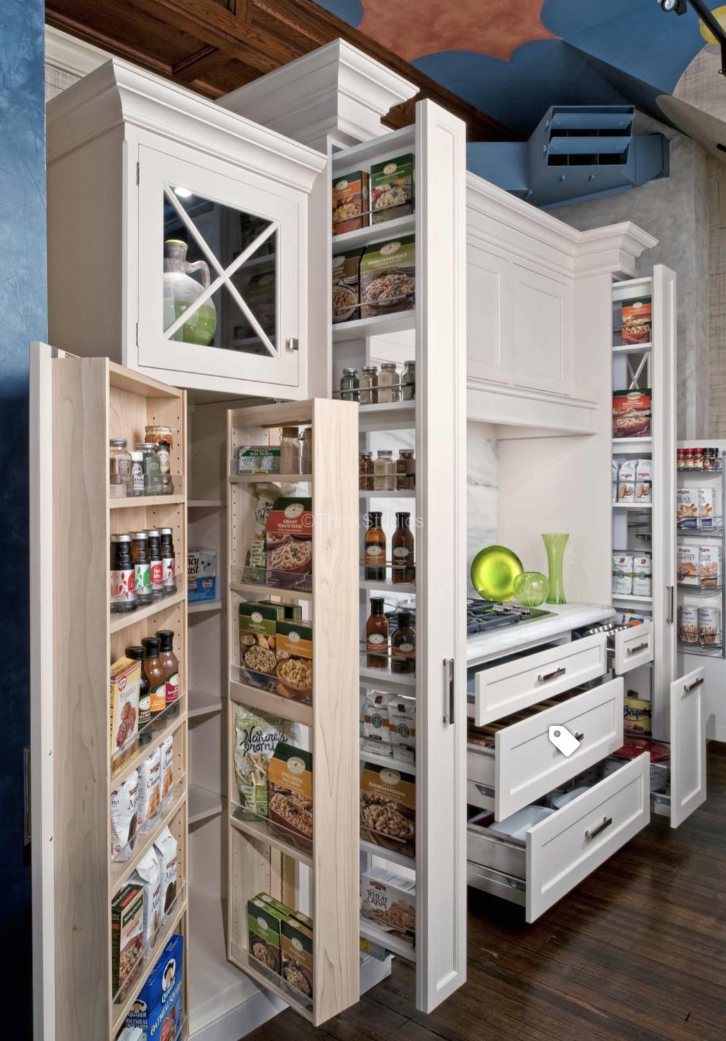 Wooden kitchen storage