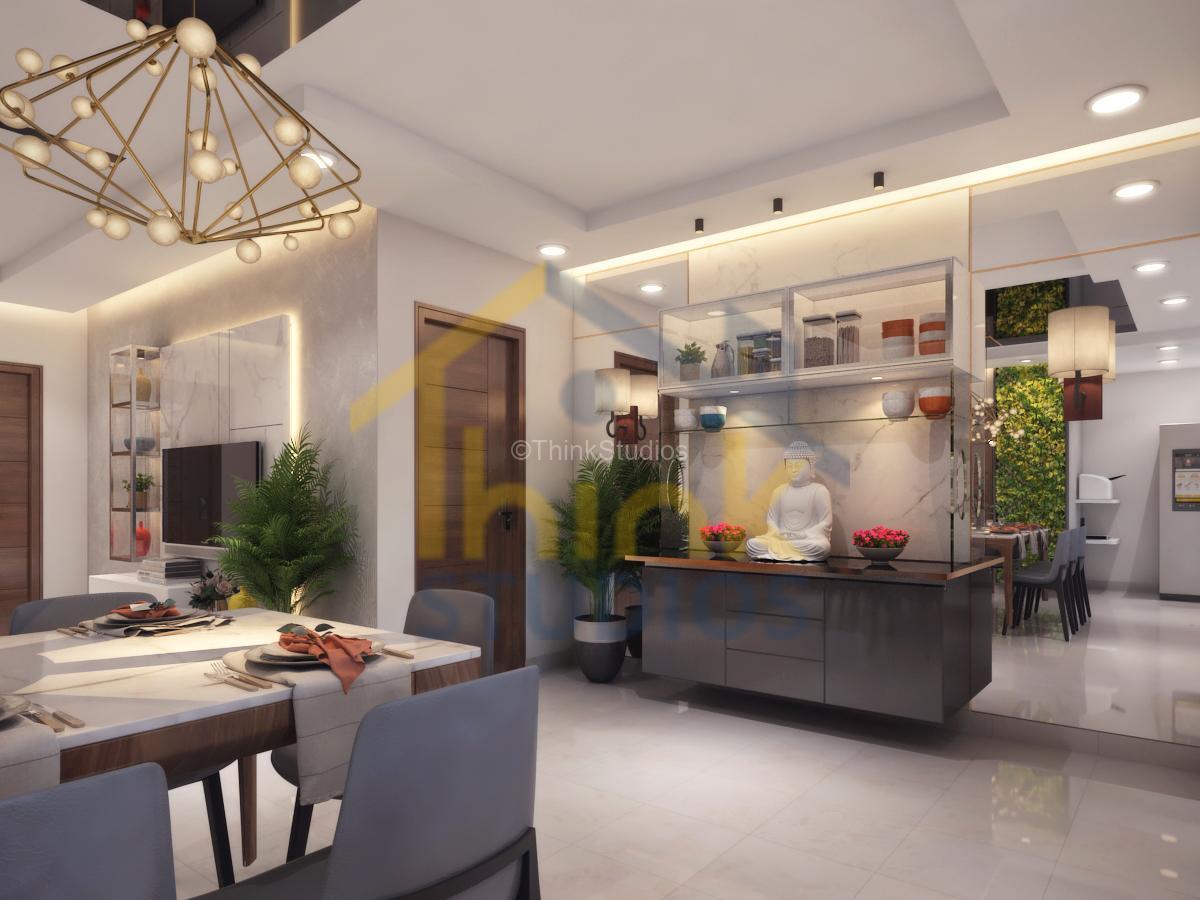 Rajapushpa Atria_interior design_Crockery