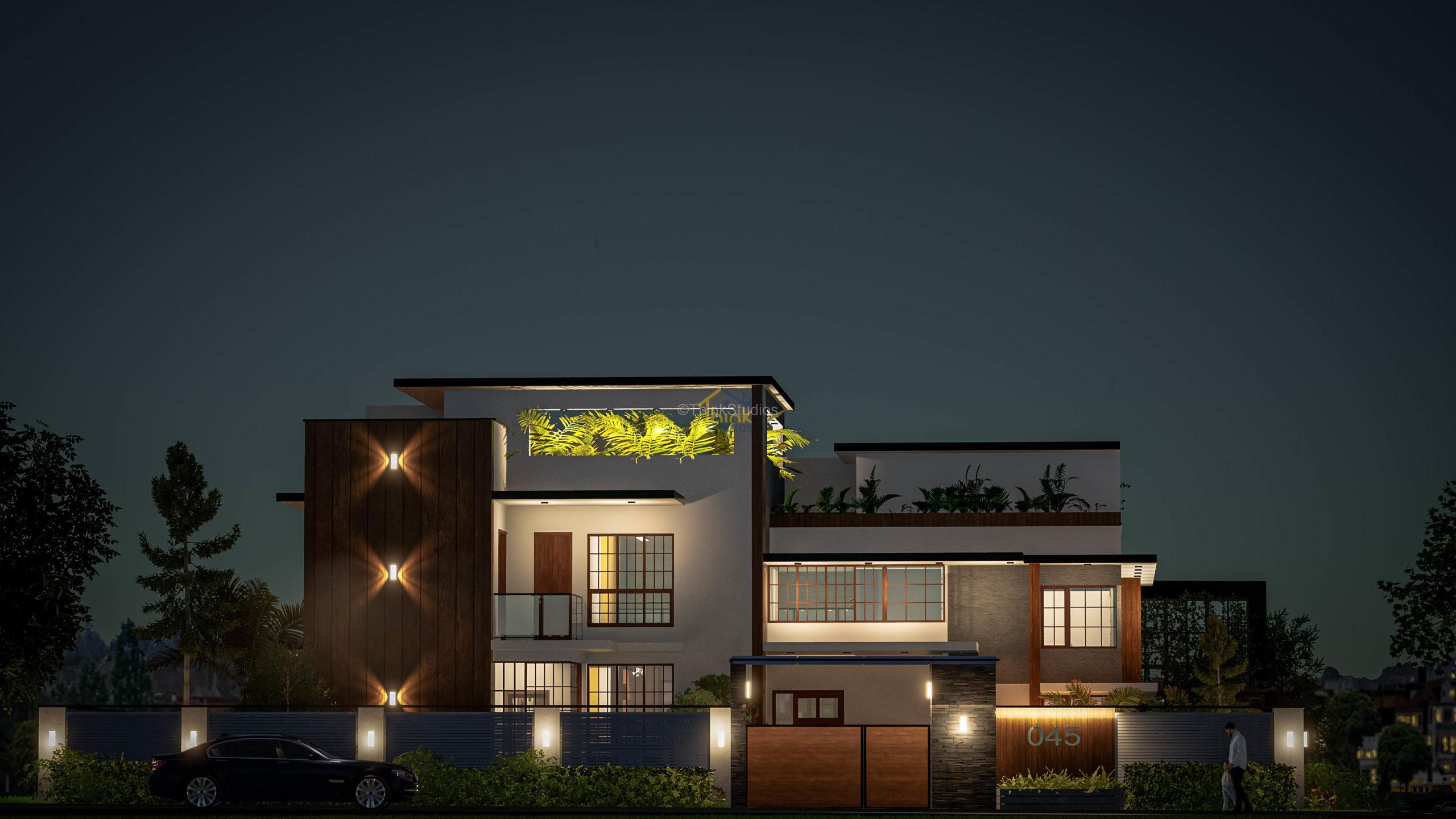 Shuja Retreat_best architect in hyderabad_night view