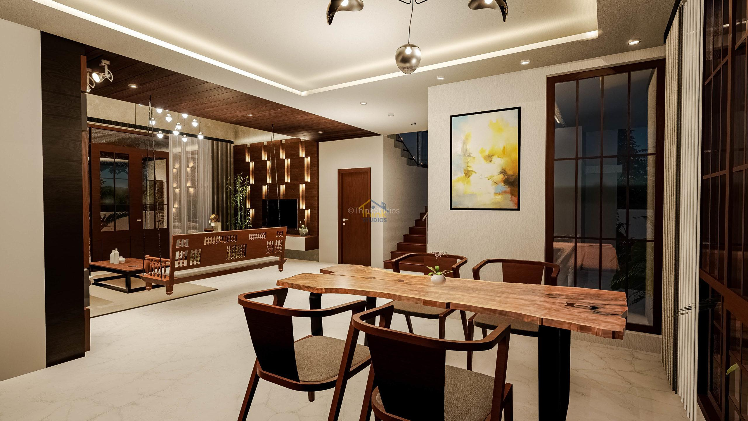 Shuja Retreat_best architect in hyderabad_living room