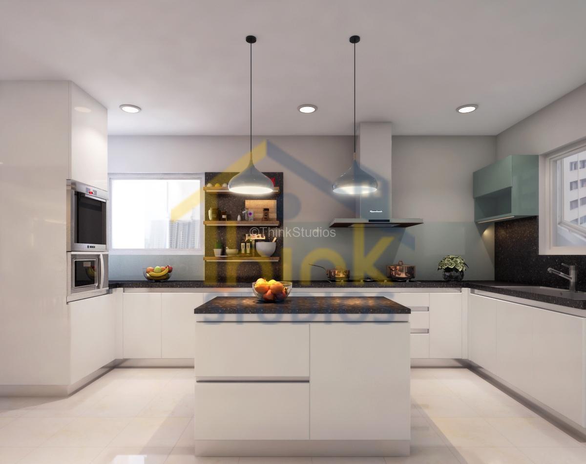 Rajapushpa Atria_interior design_modren kitchen