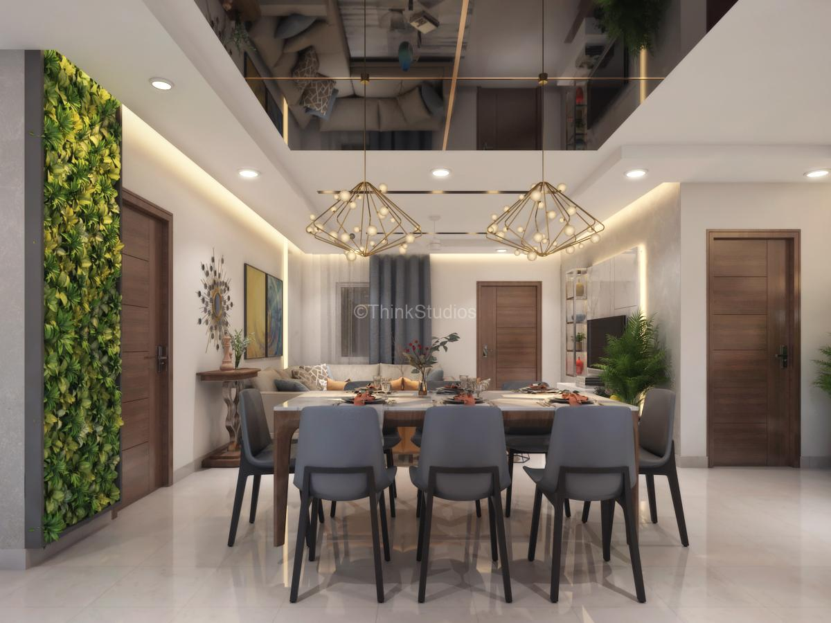 Residential Apartment Interiors_dinning and drawing room door