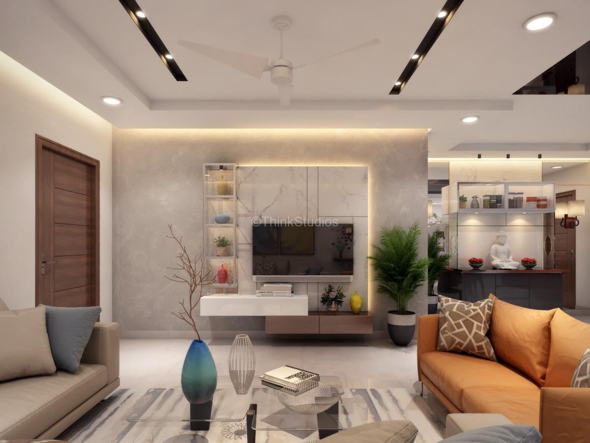 Residential Apartment Interiors_drawing room