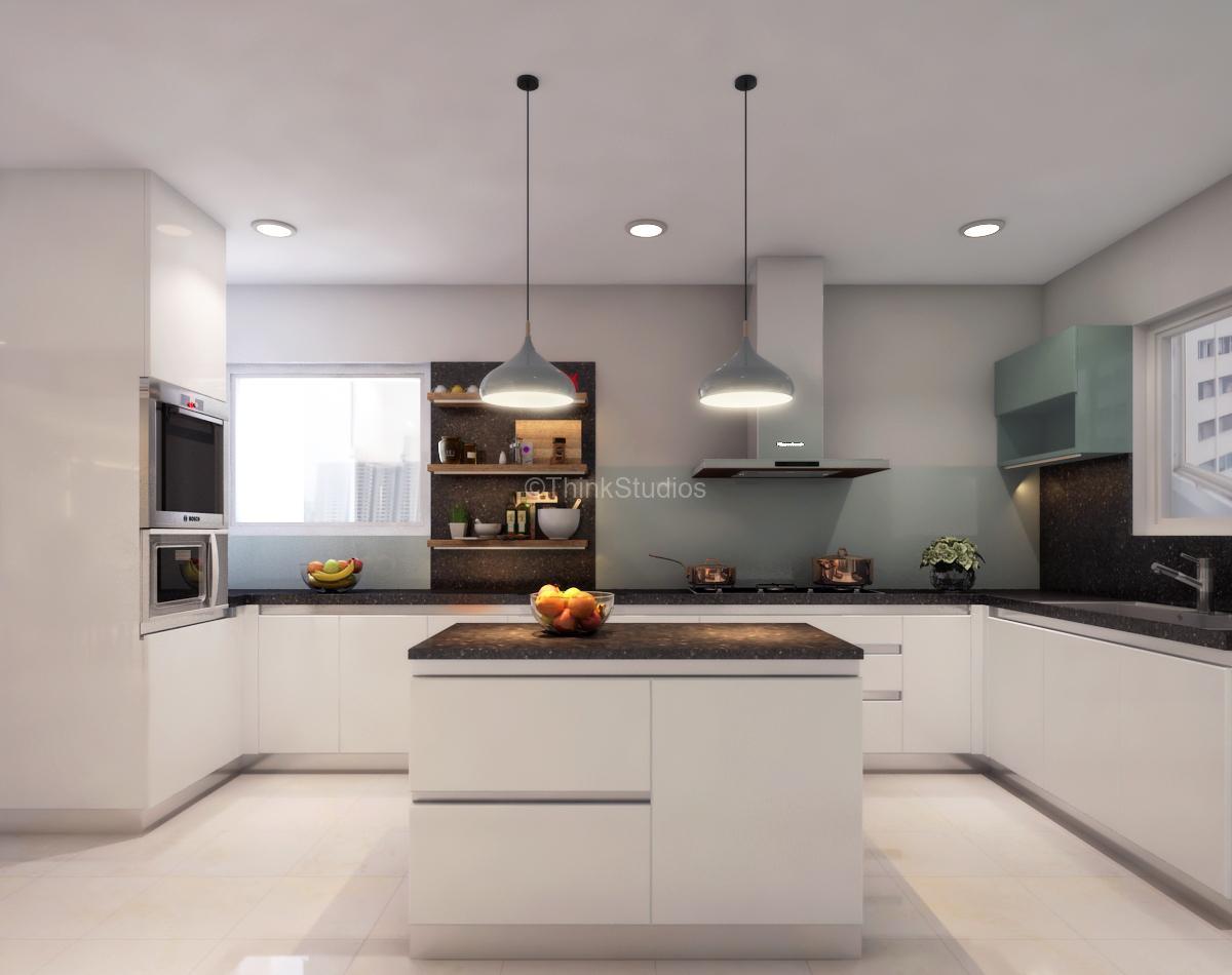 Residential Apartment Interiors_thinkstudios_Modren Kitchen1