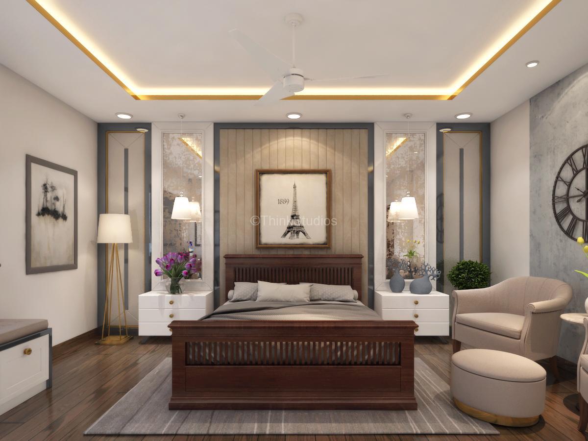 Villas Architectural designers in Hyderabad - Residential Apartment Interiors_thinkstudios_bedroom