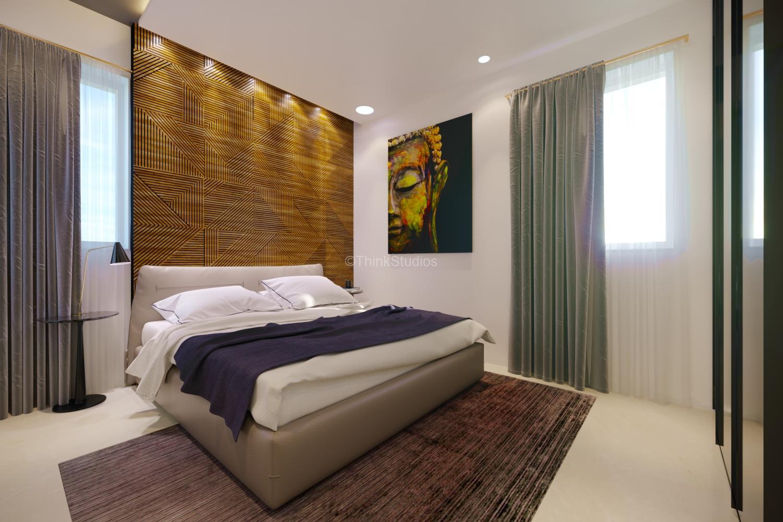 Residential Apartment Interiors_Mayfair Villa_ Hyderabad_Guest_Room_01